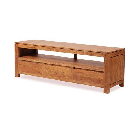 chariot de cuisine en bois meuble télé bois exotique acacia 3 tiroirs guntur 3511