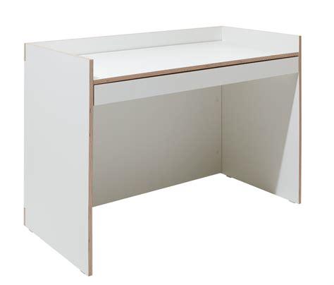 bureau avec tiroir flai desk bureau l120 cm avec tiroir blanc