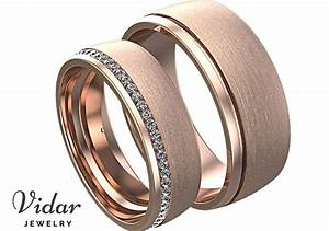 Rose Gold Eternity Diamond Matching Wedding Band His And