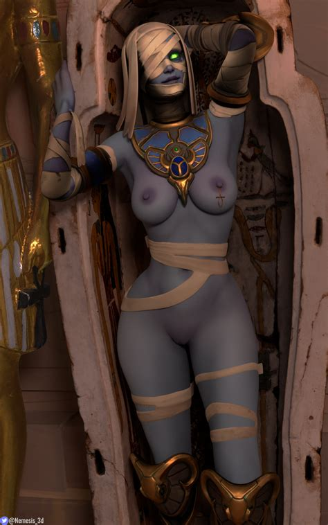 Rule 34 1girls 3d Ana Amari Ancient Egypt Ankh Bandages
