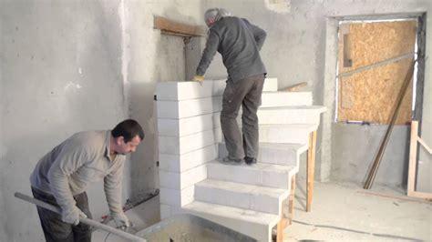 escalier en kit beton monter un escalier b 233 ton quart tournant en kit bricolage avec robert