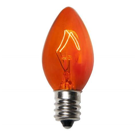 transparent gold c7 incandescent christmas light bulbs