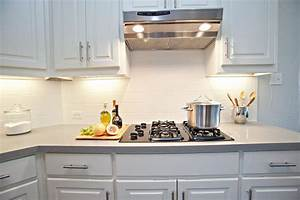 White Tile Backsplash With Dark Grout Great Home Decor