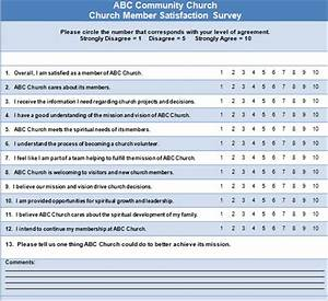 13 sample questions for a church survey With volunteer satisfaction survey template