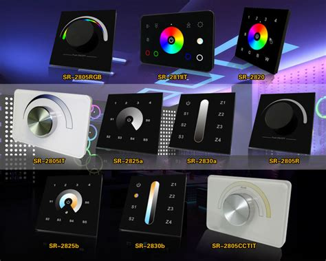 led dmx controller rotary dimmer switch wall mounted view
