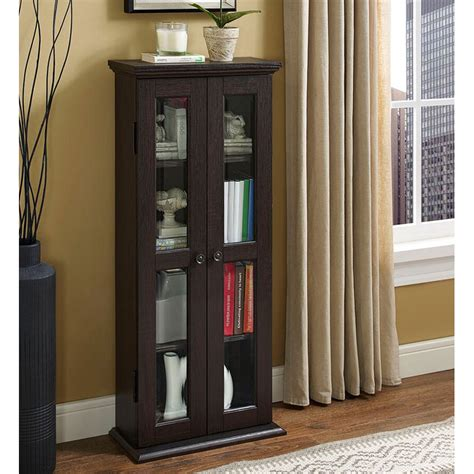 media tower cabinet walker edison dt41es espresso wood media tower cabinet