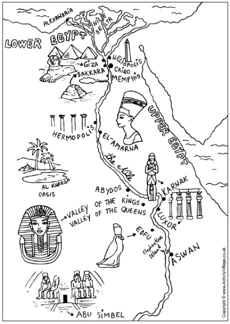 ancient egypt map coloring page  website   lot