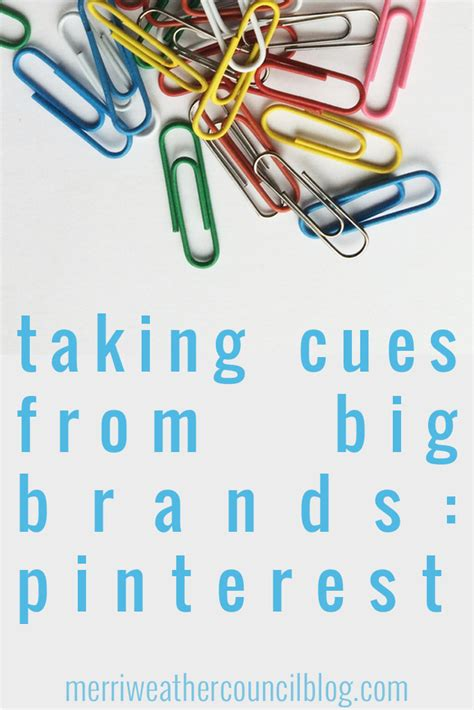 Taking Cues From Big Brands  Pinterest Edition