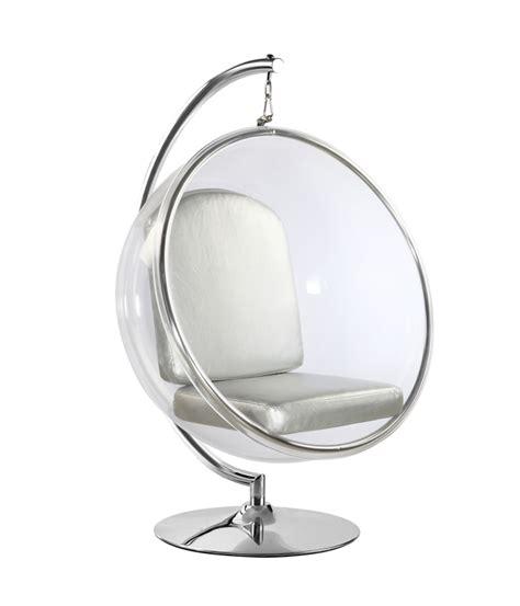 eero aarnio style hanging chair white cushion