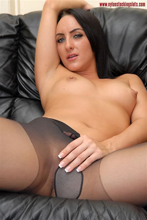 Dark Haired Sexy Milf In Black Pantyhose An Xxx Dessert