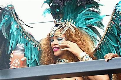 Rihanna Curvy Barbados Carnival Shows Bejeweled