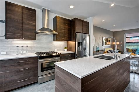 modern tile kitchen contemporary kitchen with flush light by isola homes 4236