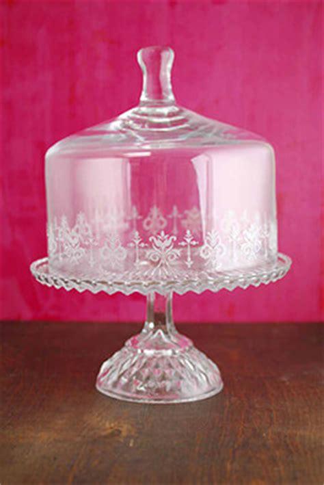 glass pedestal vintage cake stand set