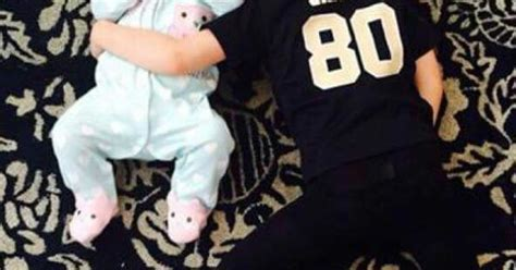 drew brees son wearing  jimmy graham jersey