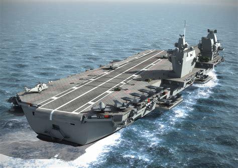 le point sur le programme des futurs porte avions britanniques mer et marine