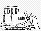 Coloring Bulldozer Construction Excavator Clipart Sketch Truck Equipment Digger Heavy Drawing Backhoe Clip Cliparts Cartoon Tractor Deere John Dozer Machinery sketch template