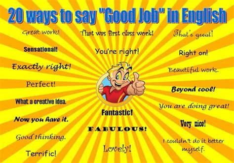 20 Ways To Say 'good Job' In English  English Learn Site