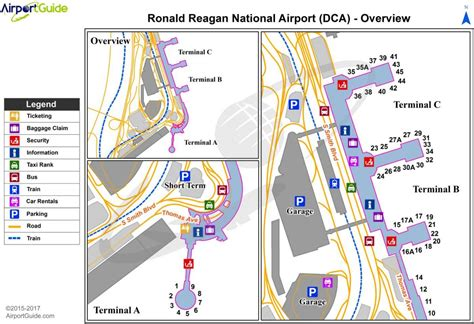 Nacionālo lidostu karte - Vašingtona nacionālā lidosta ...
