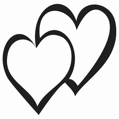 Heart Double Clip Clipart Designs Cliparts Decal