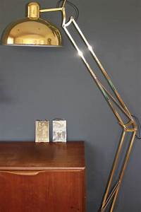 brushed copper angled floor lamp by the forest co With angled floor lamp wood
