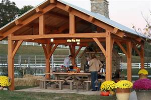 Cypress Timber Frame Pavilion in Tennessee - Rustic
