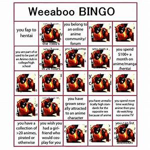 Image - Weeaboo bingo Drayco.png - Deadliest Fiction Wiki ...