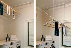 Baroque wall mounted clothes drying rack in Laundry Room