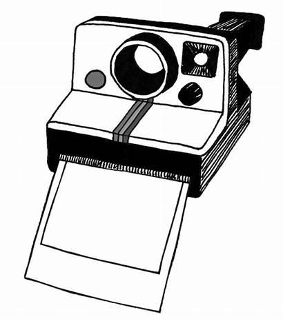 Camera Polaroid Clipart Cartoon Right Aesthetic Transparent
