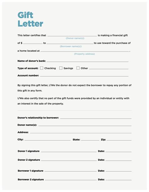 Gift Letter Template Gift Money Can Meet Your Payment Needs Nerdwallet