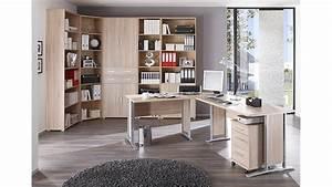 Büro Set Möbel : arbeitszimmer b ro set 2 office line schreibtisch regal sonoma eiche ~ Indierocktalk.com Haus und Dekorationen