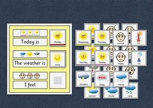 Asd Behaviour Chart Today Is The Weather Is I Feel Chart Autism
