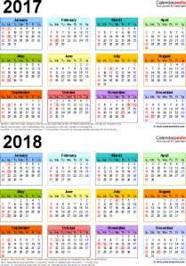 2017 2018 Year Calendar Printable