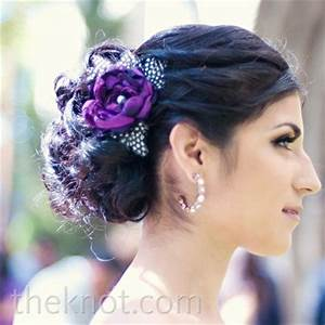 Purple Wedding Hairpiece All The Bridesmaids Wore Matching