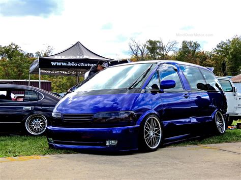 stanced toyota this stanced toyota previa is the shaggin wagon of the