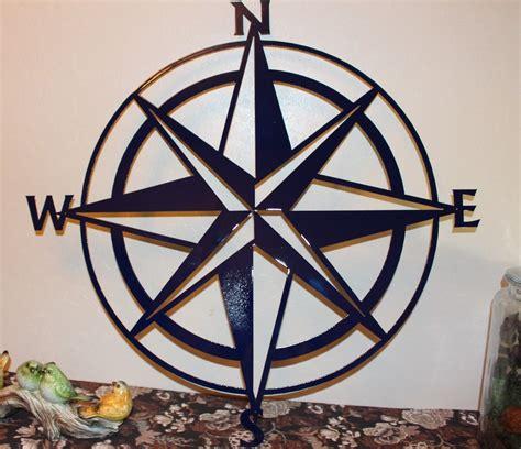 metal wall decor nautical compass wall decor 34 quot navy blue wall Nautical