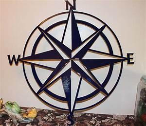 Nautical compass rose wall art decor quot navy blue