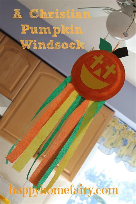 christian pumpkin windsock craft  printable happy home fairy