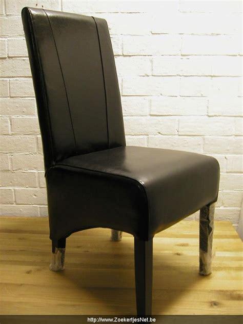 laatste bod huis 6 lederen stoelen kleur zwart laatste stuks de
