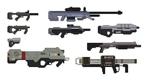 Unsc Halo 3 Weapons Pixel Art By Pwnisim On Deviantart
