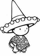 Sombrero Drawing Coloring Hat Pages Drawings Getdrawings Colouring sketch template