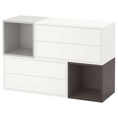 eket wall mounted cabinet combination white light grey