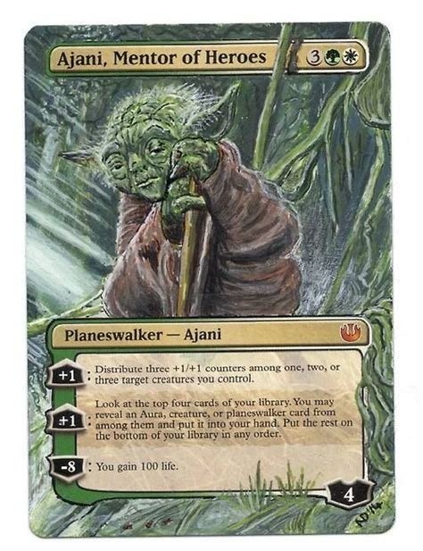 Kiora The Crashing Wave Deck Ideas by Nekoangeldesigns Yoda Alter Talk About A Mentor Of Heroes