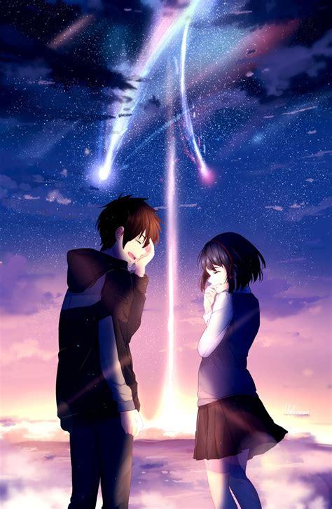 Anime Couple Terpisah Kimi No Nawa Kimi No Na Wa By Lluluchwan On Deviantart