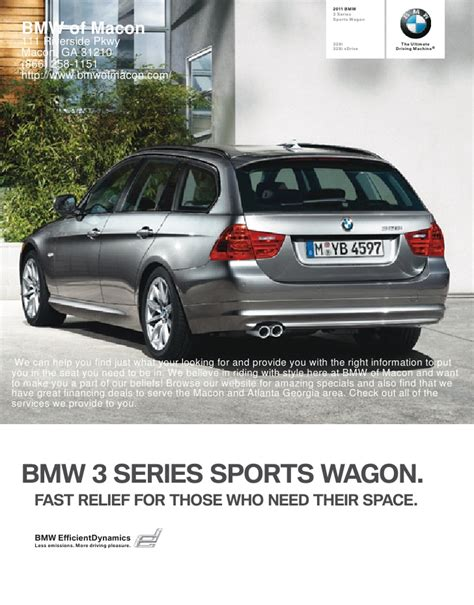 Bmw Of Macon by 2011 Bmw Of Macon 3 Series Sports Wagon Macon Ga