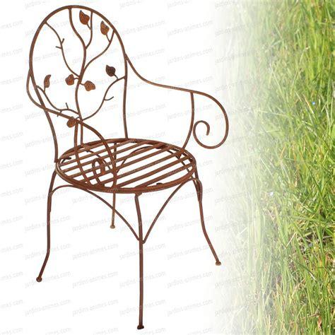 chaise en fer chaise à fleurs en fer forgé mobilier de jardin
