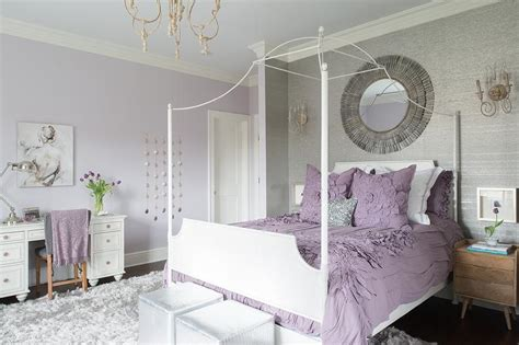 purple bedroom ideas for teenagers purple and gray teen girl bedroom with white canopy bed 19551 | purple and gray teen girl bedroom white canopy bed shag rug