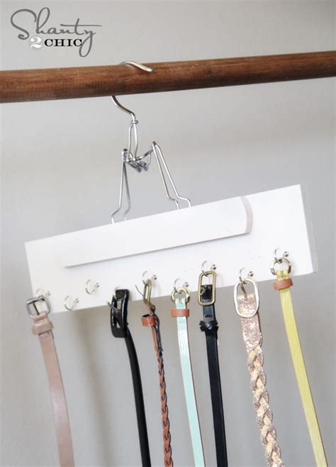 closet organization diy belt hanger shanty  chic