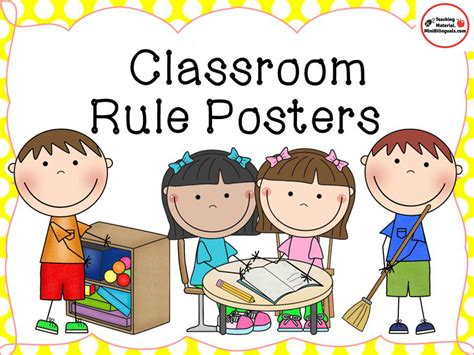 FREE- Classroom rules posters