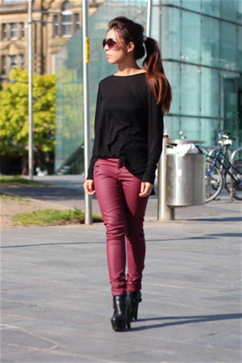 hm pants zara tops asos heels wine jeans  sindyng chictopia