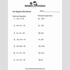 Prealgebra Practice Worksheet Printable  Lessons  Algebra Worksheets, Teacher Worksheets
